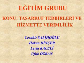 EGITIM GRUBU