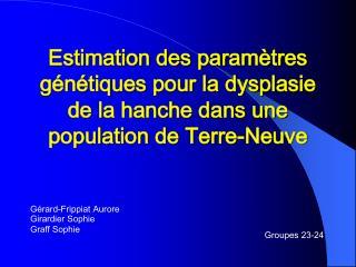 Estimation des param tres g n tiques pour la dysplasie de la hanche dans une population de Terre-Neuve
