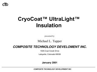 CryoCoat  UltraLight  Insulation