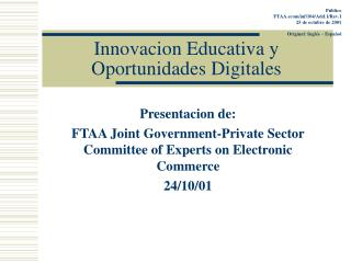 Innovacion Educativa y Oportunidades Digitales