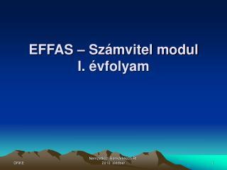 EFFAS   Sz mvitel modul I.  vfolyam