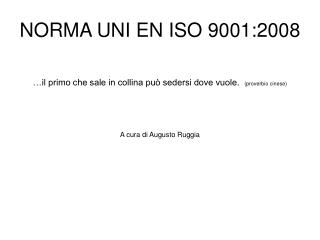 NORMA UNI EN ISO 9001:2008
