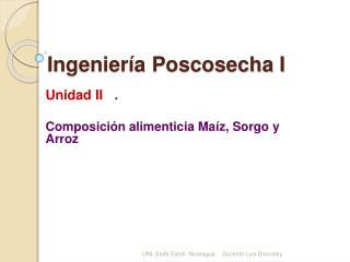 Ingenier a Poscosecha I