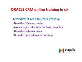 ORACLE CRM online training in uk