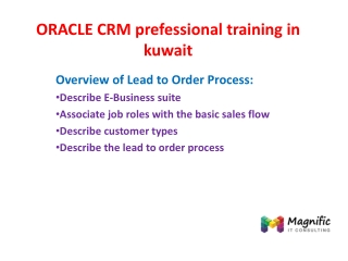 ORACLE CRM prefessional training in kuwait