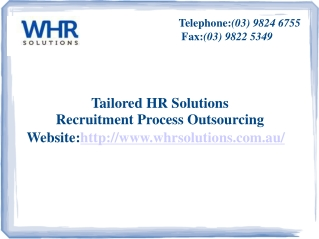 WHR Solutions - Recruitment Process Outsourcing