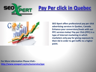 Pay Per click in Quebec