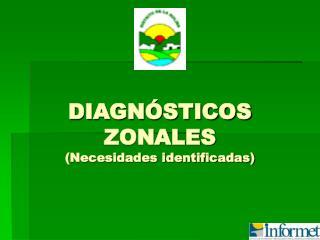 DIAGN STICOS ZONALES Necesidades identificadas