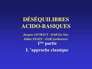 D S QUILIBRES ACIDO-BASIQUES