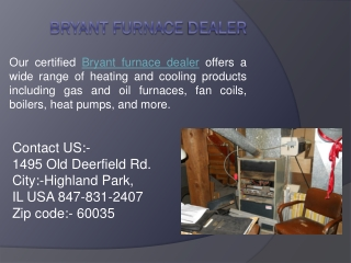Bryant Furnace dealer