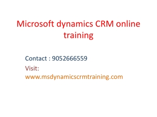 Microsoft dynamics crm training