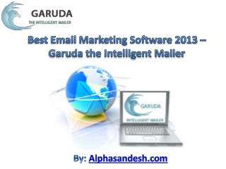 Email Marketing Software 2013