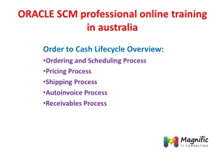 oracle scm proffitional online training in australia