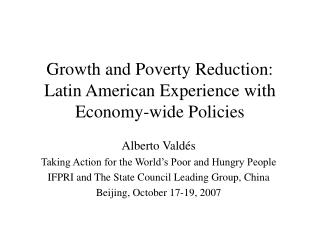 growth and poverty reduction: latin american experience with ...
