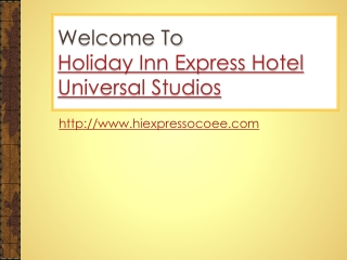 Hotel near universal studios