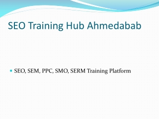 SEO Training Ahmedabad