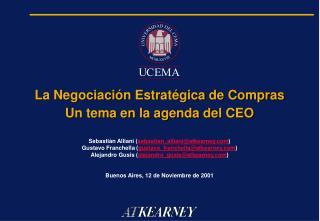 La Negociaci n Estrat gica de Compras Un tema en la agenda del CEO