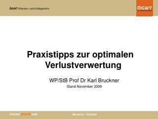 Praxistipps zur optimalen Verlustverwertung  WP