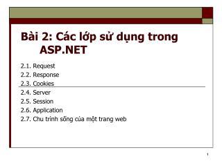B i 2: C c lp s dng trong ASP