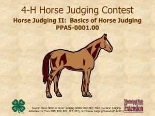 4-h horse judging contest