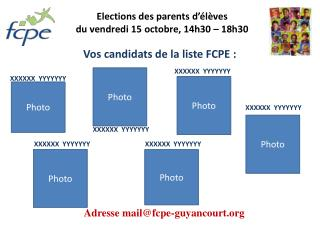 Elections des parents d  l ves du vendredi 15 octobre, 14h30   18h30