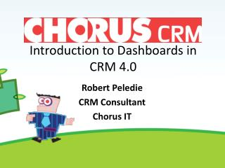Introduction to Dashboards in CRM 4.0