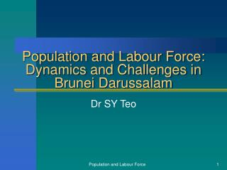 Population and Labour Force: Dynamics and Challenges in Brunei Darussalam