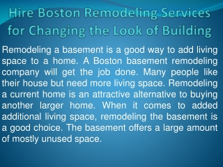 Hire Boston Remodeling Services for Changing the Look of You