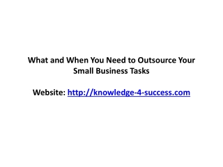 Outsource Your Small Business Task