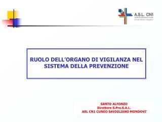 RUOLO DELL ORGANO DI VIGILANZA NEL SISTEMA DELLA PREVENZIONE