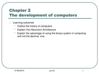 Chapter 2  The development of computers