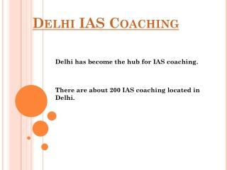 Delhi IAS Coaching