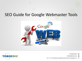 Guide for google webmaster tools