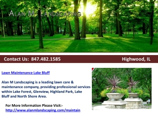 Lawn Maintenance Lake Bluff