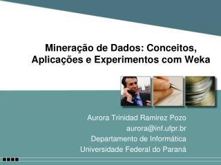 Minera  o de Dados: Conceitos, Aplica  es e Experimentos com Weka