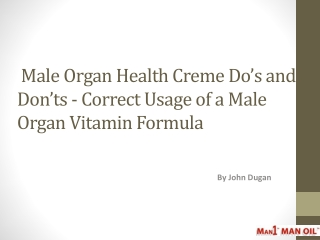 Male Organ Health Creme Do