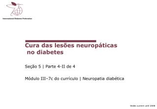 Cura das les es neurop ticas  no diabetes