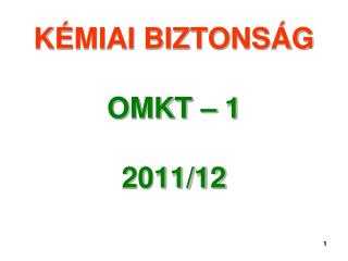 K MIAI BIZTONS G  OMKT   1  2011