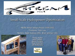 Small-Scale Hydropower Optimization
