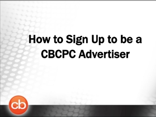 How to Sign Up to be a CBCPC Advertiser