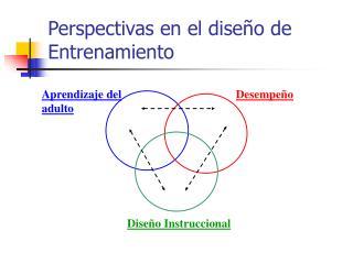 Perspectivas en el dise o de  Entrenamiento