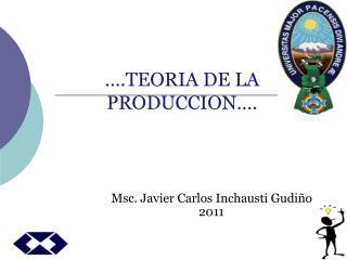 .TEORIA DE LA PRODUCCION .