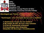 UFPa NPADC PPGECM Disciplina: FTS Professor: Licurgo Peixoto de Brito Mestrando: Franciney Carvalho Palheta