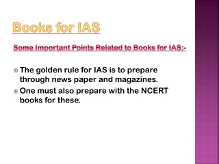 Get the knowledge about Books for IAS