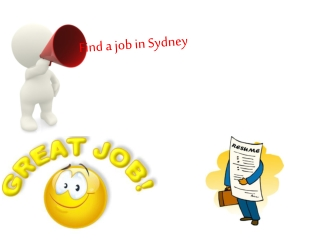 Find a job in Sydney