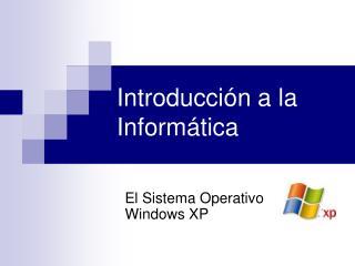 Introducci n a la Inform tica
