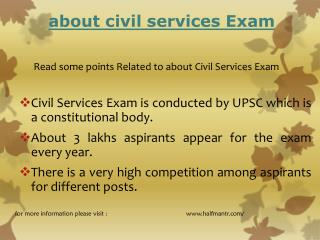 Read some points Related to about Civil Services exam