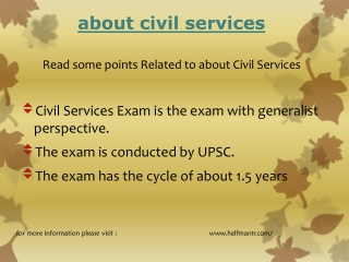 Read points About civil services