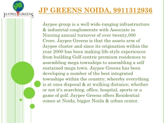 Jaypee Greens noida, jp group, Residential Projects, Propert