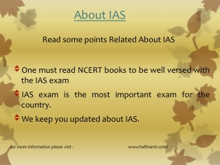 Read some points IAS EXAM